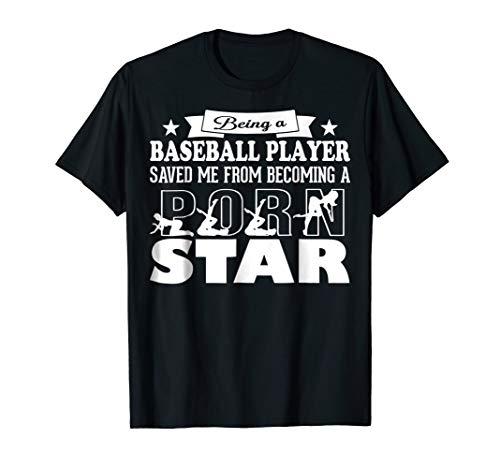 Porn star funny Baseball player tshirt gift