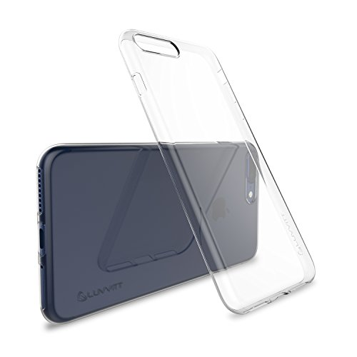 Cover iPhone 7 Plus Case, LUVVITT [Ultra Slim] Soft Slim Flexible TPU Back Cover Transparent Rubber Case for Apple Cover iPhone 7 Plus - Clear