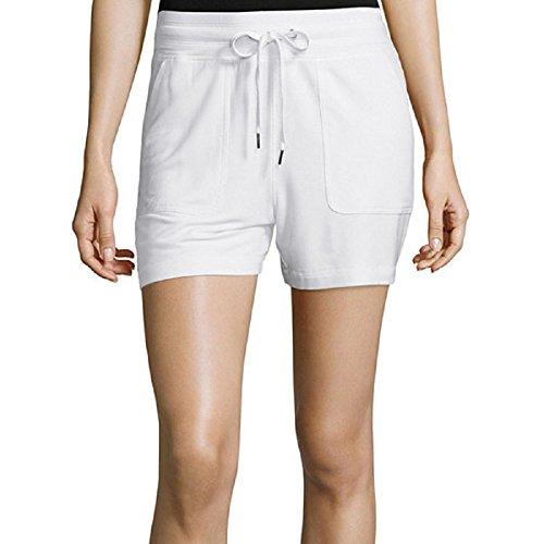 liz-claiborne-white-knit-shorts-size-m