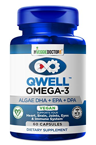 VEGAN OMEGA 3 - Better Than Fish Oil! Doctor Formulated, Plant Based, Algae DHA EPA DPA Supplement. Supports Heart, Brain, Joint, Prenatal & Immune System. No Carrageenan. 60 Lemon Vegetarian Capsules