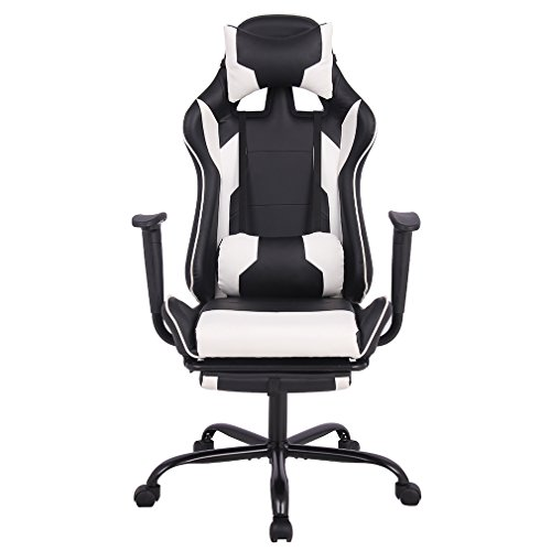 Bestmassage Gaming Chair Ergonomic Swivel Chair High Back Racing
