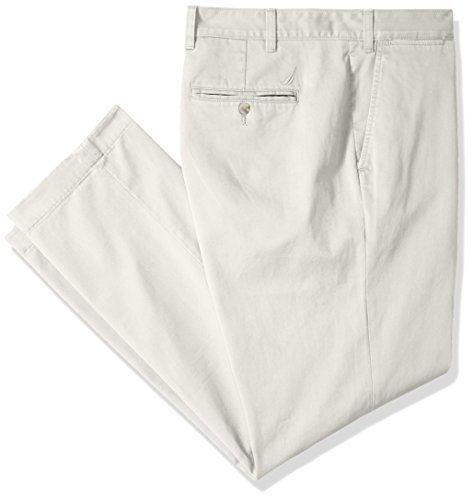 Cotton Twill Flat Front Pants (Nautica Men's Big and Tall Cotton Twill Flat Front Chino Pant, True Stone, 44W 36L)