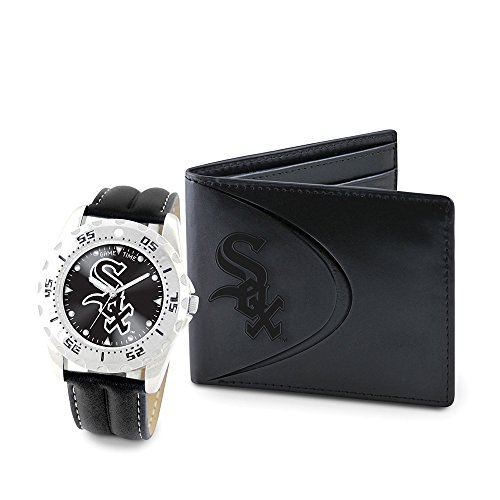 Game Time GTW-MLB-WWS-CWS Chicago White Sox MLB Mens Watch & Wallet Set