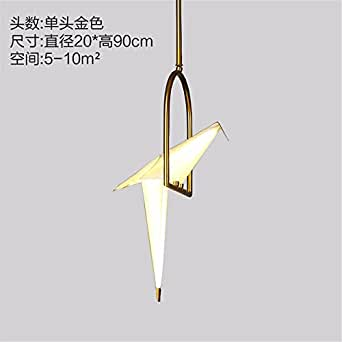 JhyQzyzqj Pendant Lights Chandeliers Ceiling Lights Scandinavian style restaurant dining creative personality balcony post-modern bed for children bird bedroom paper cranes