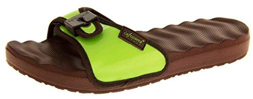 Womens correa ajustable Mule Sandals Verde