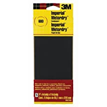 3M Sandpaper, 600-Grit, 3.66-Inch by 9-Inch, 5-Pack