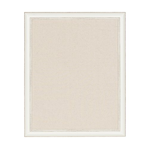 DesignOvation Macon Framed Linen Fabric Pinboard, 23x29, Soft White]()