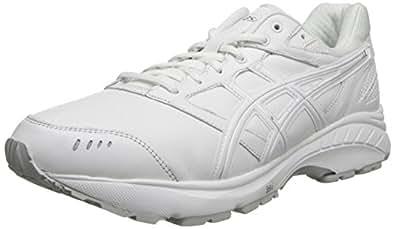 ASICS Men's Gel-Foundation Walker 3 Walking Shoe, White/Silver, 6 M US