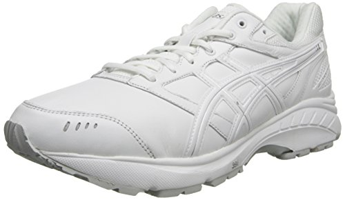 Leather Extra Size Silver 5 Gel 29 3 Mens Wide 11 US or Comfortable Walker 4E cm White Trainers Color ASICS Foundation Pn0w5xROnq