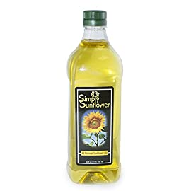 Simply Sunflower - All-Natural Sunflower Oil - Cooking Oil - 32 oz. Bottle 4 This all-natural sunflower oil is a great alternative to traditional vegetable and canola oil for everyday cooking. Naturally high in vitamin E, it has a very high smoke temperature yet still maintains a light, nutty flavor found only in sunflowers. Sunflower oil is a great option for those who are health conscious.