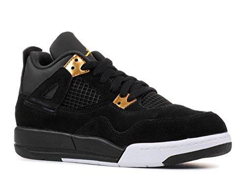 e6bfcb6a82d Galleon - Nike Jordan 4 Retro BP Black Metallic Gold White 308499-032  (SIZE  1.5Y)