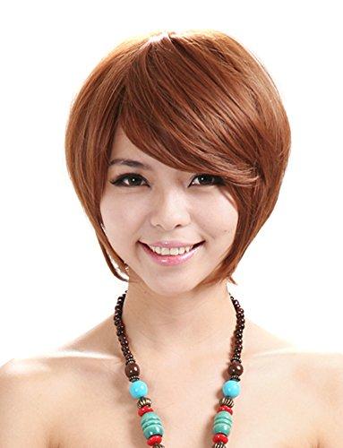 namecute mujeres corto peluca japonés sintético fibra kanekalon resistente al calor