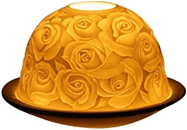Light-Glow Collection Roses Bougeoir Porcelaine 13/ x 12/ x 8/ cm Blanc