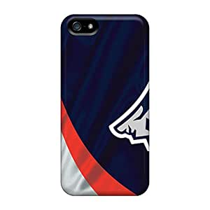 Iphone 5/5s ZfZ4091akJU Customized Vivid New England Patriots Series Scratch Protection Hard Cell-phone Cases -AnnaDubois