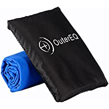 "OuterEQ Microfiber Travel Towel - Quick Dry Towels 20"" x 40"""