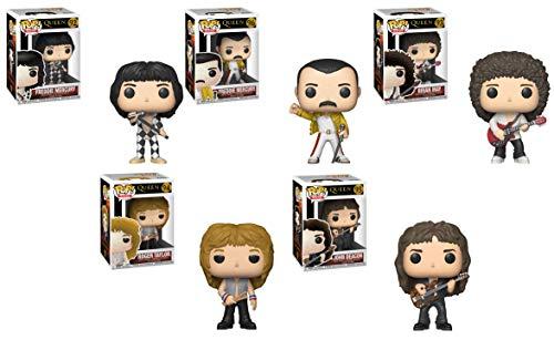 (Pop Rocks: Queen - Freddie Mercury, Freddie Mercury (Wembley 1986), Roger Taylor, Brian May, John Deacon Vinyl Figures Set )