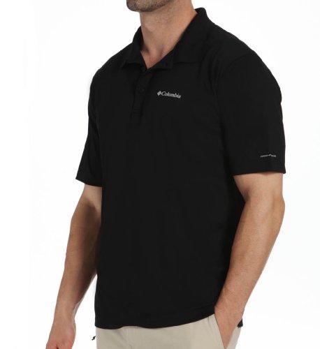 Columbia Men's Zero Rules Short Sleeve Polo Shirt, Black, X-Large