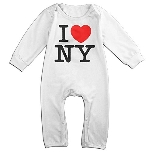 [HOHOE Boy's & Girl's I Love NY New York Long Sleeve Bodysuit Outfits 24 Months] (Play Doh Sexy Costumes)
