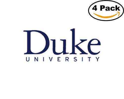Colleges And Universities Duke University Logo 4 Stickers 4X4 Inches Car Bumper Window Sticker (Duke University Car)