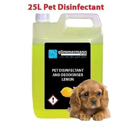 glimmermann Pet Caseta desinfectante y limpiador de ambientador para Limón 25L: Amazon.es: Productos para mascotas
