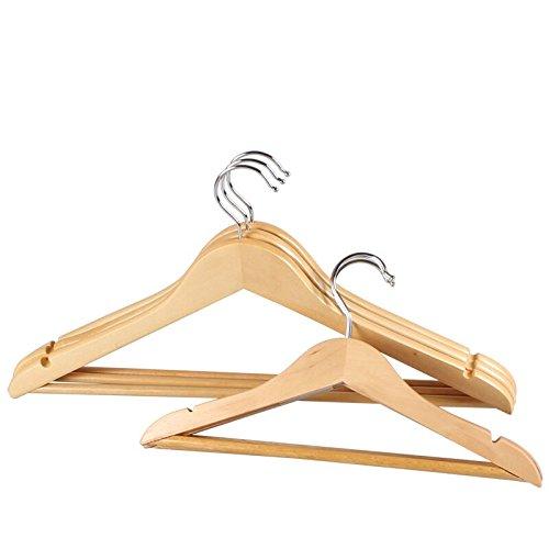Wooden Hangers Clothes Rack Wooden Coat Western Clothes Clothes Dry And Wet Clothes And 5 Pieces Of Clothing. 50 (Hotel Wholesale)