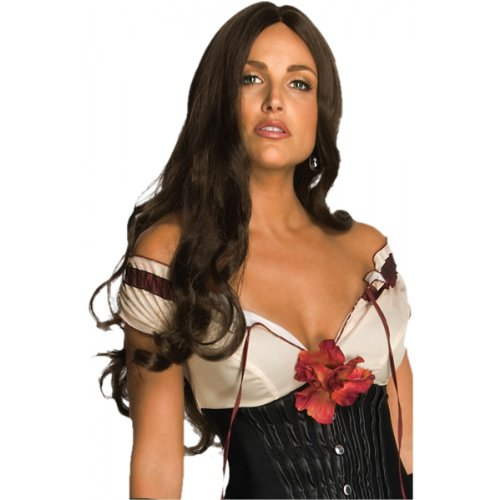 Secret Wishes Jonah Hex Lilah Wig, Brown, One Size - Jonah Hex Halloween Costumes