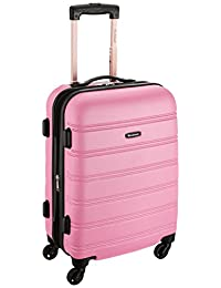 Rockland F145 Melbourne Expandable Abs Carry On Luggage, Pink, One Size, 20-Inch
