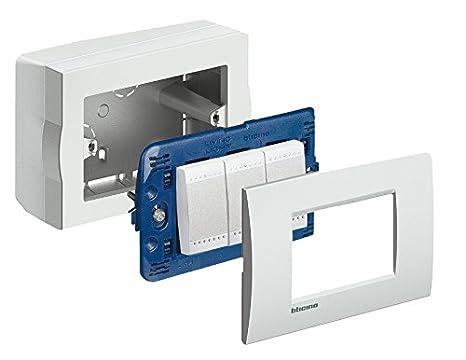 Oggetti Per Ufficio : Bticino s503bpf serie magic scatola da parete 3 posti bianca bianco
