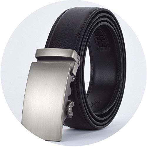 Go get it now Men Automatic Buckle Leather Belt Business Male Alloy buckle Belts for -