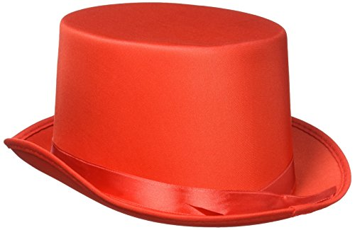 Satin Sleek Top Hat (red) Party Accessory