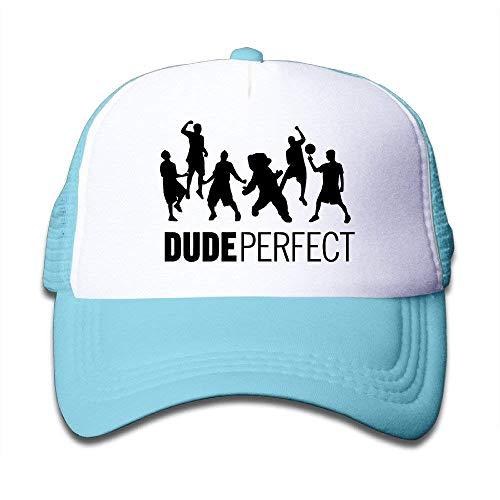 (UMarsDeal Youth Dude Perfect Adjustable Mesh Trucker Caps Hats)