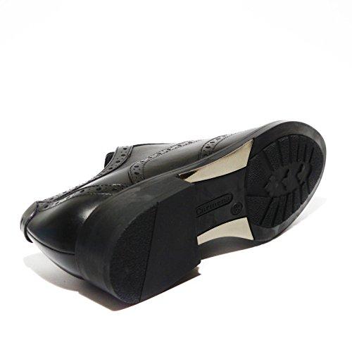 Carmens stringata donna coda di rondine pelle nero made in italy art.38338