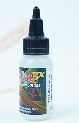 Createx Illustration Colors Transparent Base for Airbrush Paint 5090 1oz. by SprayGunner