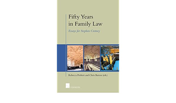 Fifty Years In Family Law Essays For Stephen Cretney Rebecca  Fifty Years In Family Law Essays For Stephen Cretney Rebecca Probert  Chris Barton  Amazoncom Books