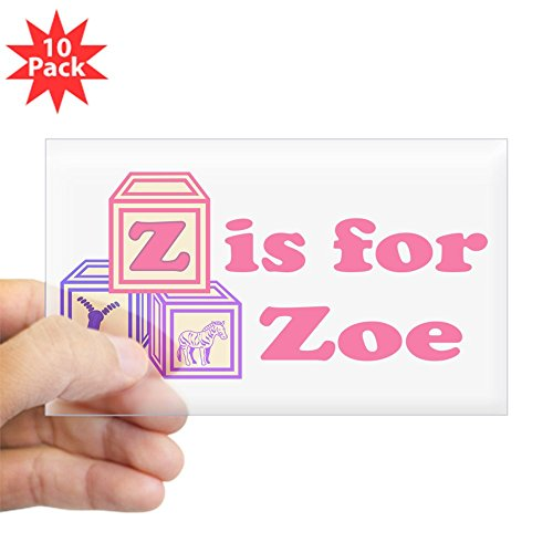 CafePress - Baby Blocks Zoe - Rectangle Bumper Sticker (10-pack), Car Decal