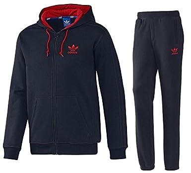 44ce5686700620 Adidas Originals TPO Mens Hooded Flock Trefoil Top   Bottoms Tracksuit RRP  £110 (X