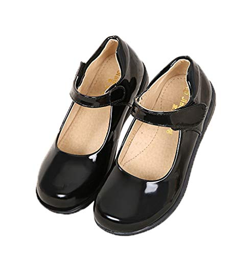 Image of WUIWUIYU Girls' Mary Jane Flats School Performance Uniform Dress Shoes(Toddler/Little Kid/Big Kid)