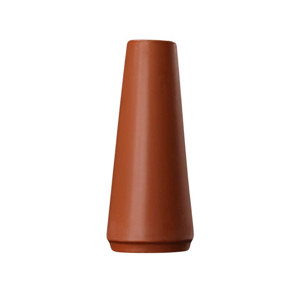 MAHONGQING 花瓶北欧モダンミニマリストホームリビングルーム寝室広い口セラミック花瓶アメリカンテーブルフラワーアレンジメント飾り装飾 (Size : L) B07S358MLC  Large