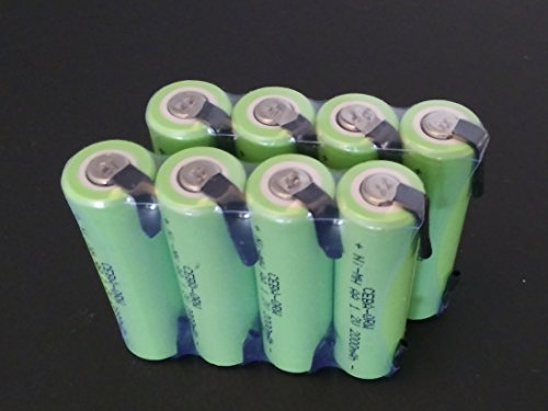 Bulk Pack - 8 PCS NiMH AA 2000 mAh Flat Top Rechargeable Batteries w/Tabs for Electric Shavers / Razors , Remotes, etc