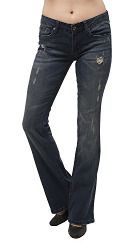 Low Rise Flare Destroyed Jeans - 9