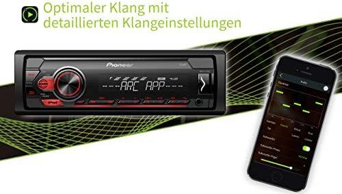 Pioneer Mvh S110ui 1din Autoradio Mit Rds Rot Halbe Einbautiefe Usb Für Mp3 Wma Wav Flac Aux Eingang Android Unterstützung Iphone Steuerung Arc App Auto