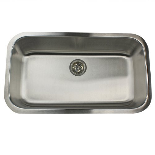 Nantucket Sinks NS3219-16 32-Inch Large Rectangle Single Bowl Stainless Steel Undermount Kitchen Sink by Nantucket Sinks by Nantucket Sinks