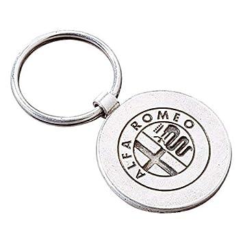 Alfa Romeo Llavero de Metal de Dos Caras Original: Amazon.es ...