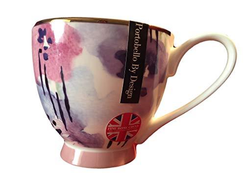 (Portobello By Inspire British Large Pedestal Coffee Tea Mug Watercolor)
