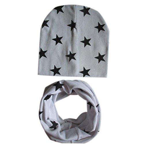 Babybekleidung Schals Longra Baby Mütze Schal jungen Mädchen Kleinkinder Schal Kind Schal Hüte Mützen (Gray)