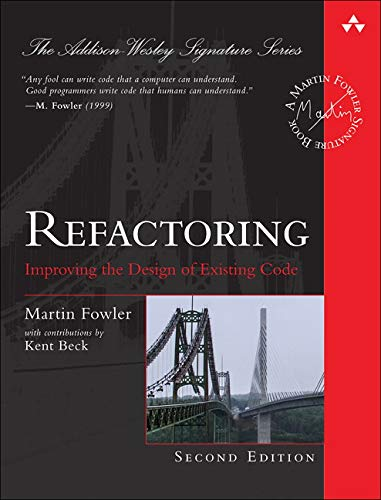 Pdf Technology Refactoring: Improving the Design of Existing Code (2nd Edition) (Addison-Wesley Signature Series (Fowler))