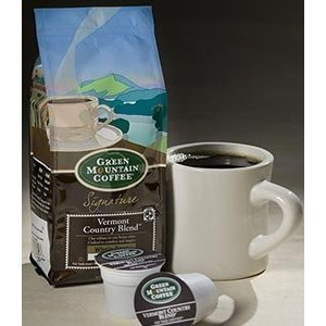 Green Mountain Vermont Country Blend, Whole Bean, 12oz. Bag (Pack of 2) ()