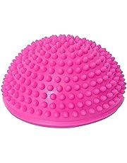 Foot Massage High Density Yoga Spiky Ball Half Round [Pink]