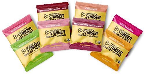 Honey Stinger Organic Energy Chews - Variety Pack - 8 Count - Cherry Blossom, Lime-Aid, Cherry Cola, Fruit Smoothie, Orange Blossom, Pink Lemonade, Pomegranate Passionfruit & Grapefruit (Orange Honey Stingers)