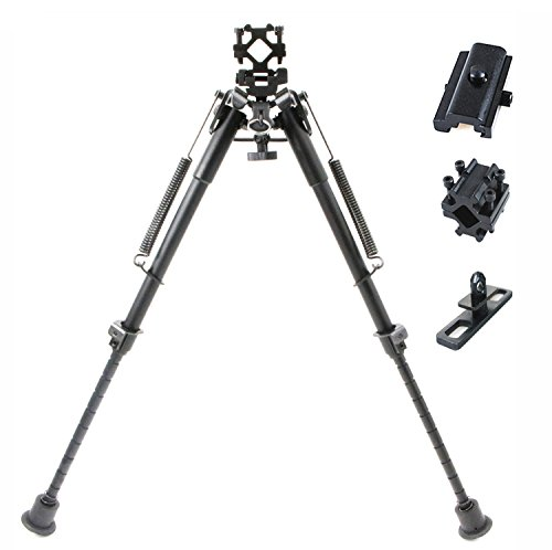 Ar 15 Bipods (RioRand 3-in-1useful 9''-13'' Inches Bipod with 3 Different Adapters Base for Ar-15)